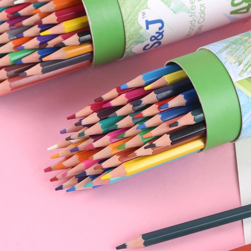 Colored pencils barreled children's painting pens pupils pencil set 36 color oily color lead color