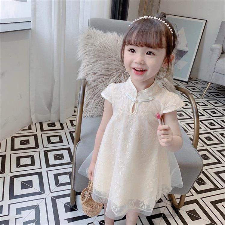 Children's clothing girls dress summer children's cheongsam dress princess dress western style sum