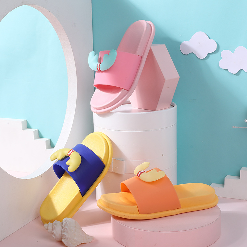 Cartoon Fawn Children's Slippers Summer Men's and Children's Bathroom Sandals and Slippers Home S