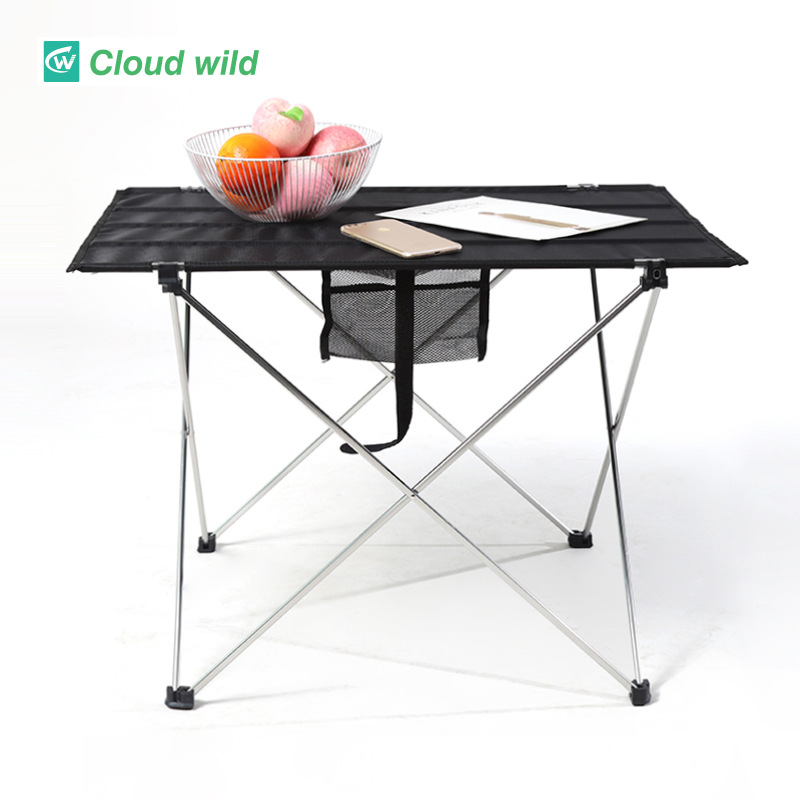 Large outdoor folding table Aluminum portable table camping Picnic barbecue table Place stall leisur