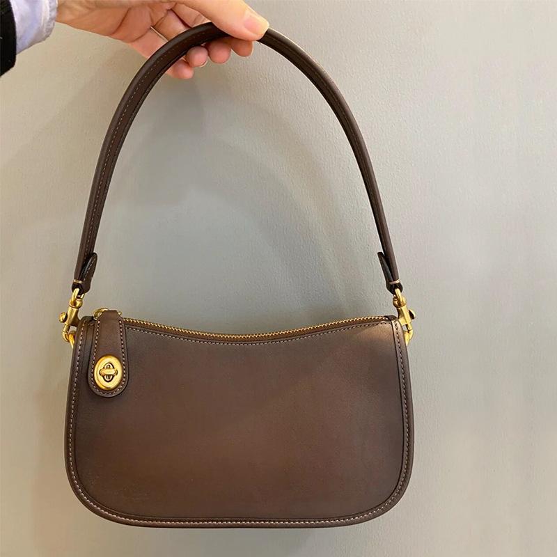 2021 new niche leather baguette bag pearl retro mahjong bag calfskin underarm handbag handbag should