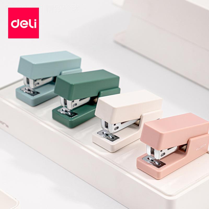 Effective mini small stapler ns083 student cute office labor-saving stapler set