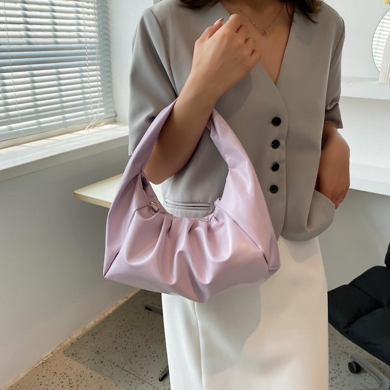 Cloud fold underarm bag women's shoulder ins Korean version bag 2021 new large-capacity fashion sim