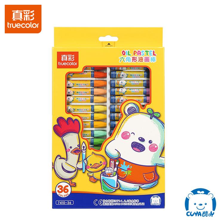 True color 24 color oil pastels for children