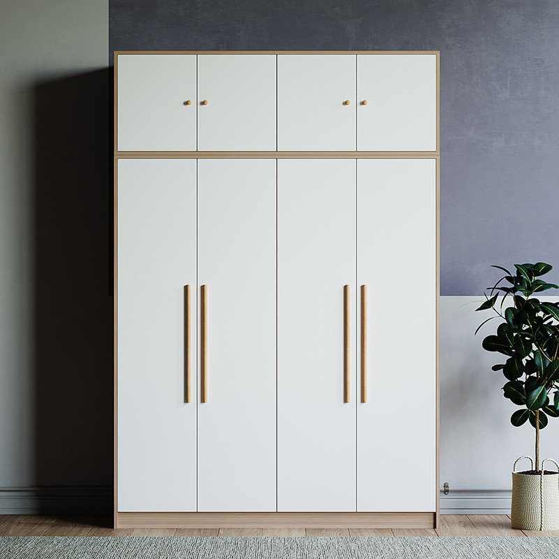 Wardrobe Nordic Custom Wardrobe Rental Room Apartment Project Panel Type Overall Four Door Assembly