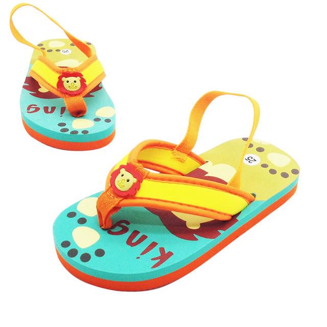 2021 new summer children's slippers cartoon flip-flops boys and girls shoes beach baby EVA beach sh