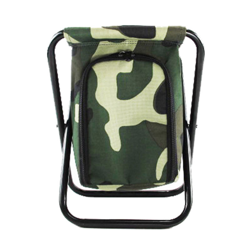 JIYUAN Folding stool ice bag fishing stool fresh-keeping storage beverage chair snack bag multi-func