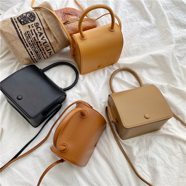 Trendy Bags Women's Fashion Shoulder Bags Korean Style Niche Pure Color Handbags Women's Small Squ