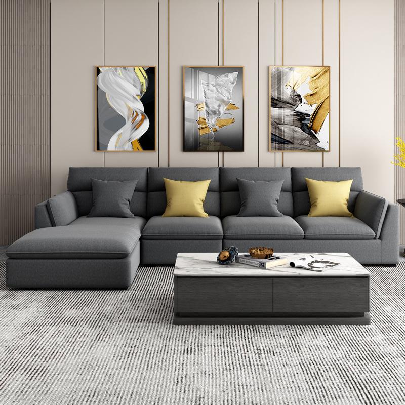 Latex technology fabric sofa modern minimalist Italian minimalist furniture Nordic small apartment l