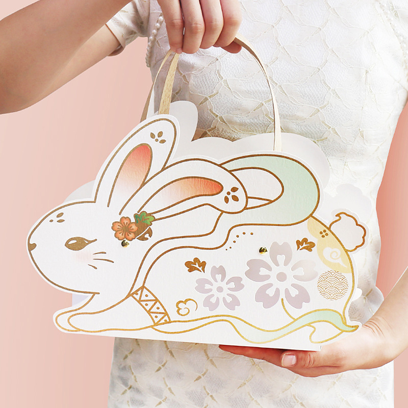 2021 New Mid-Autumn Festival Box Mooncake Gift Box Creative Three-dimensional Rabbit Liuxin Cantones