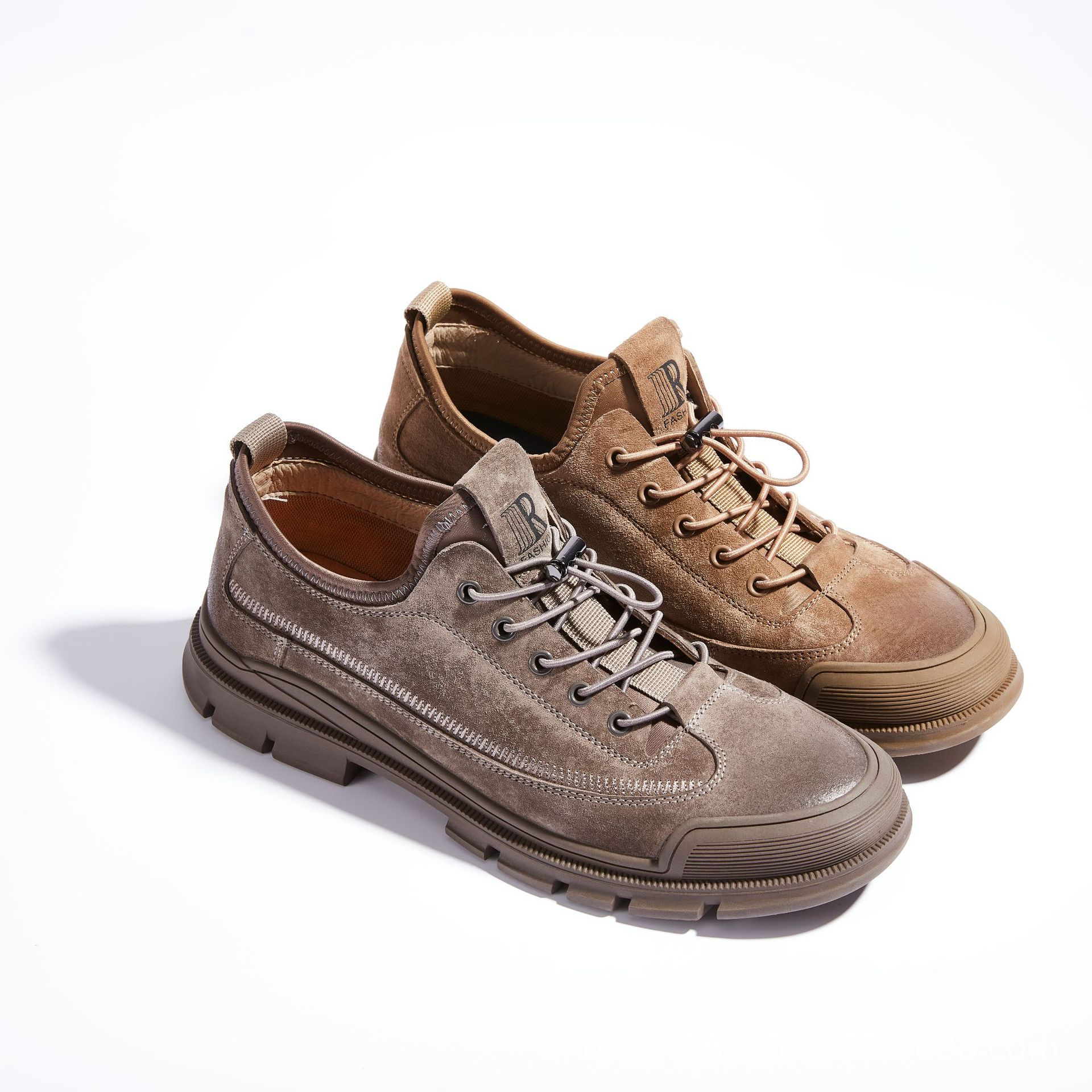 Pigskin Fleece Suede Tooling Shoes Leather Casual Shoes