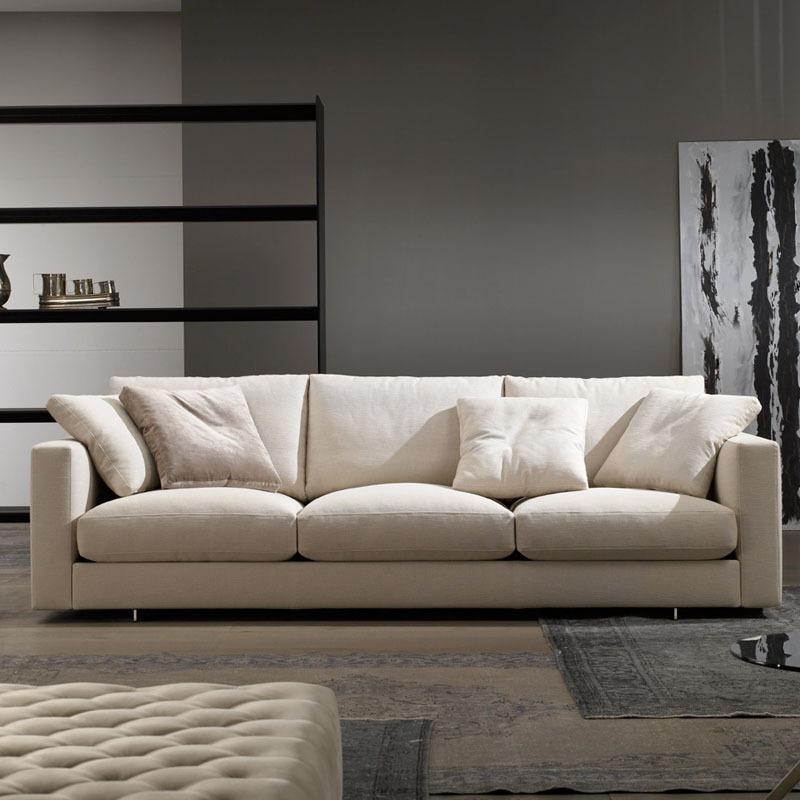 Yihaixuan Nordic fabric sofa small and medium-sized apartment living room furniture three-person dow