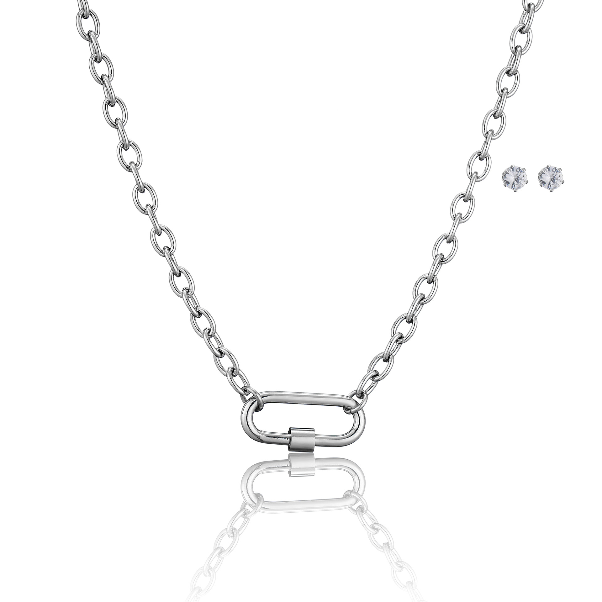 2021 Fashion New Exquisite Safety Pin Jewelry Stainless Steel Safety Pin Necklace Designed for Girls
