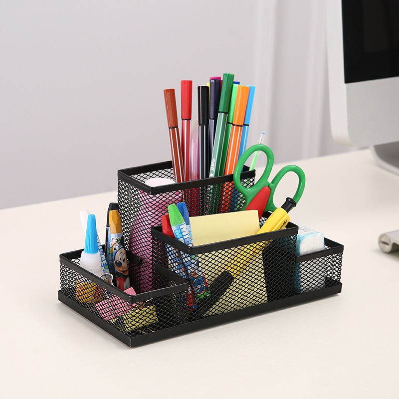 Desktop office supplies, multifunctional pen holder, barbed wire mesh creative combination stationer