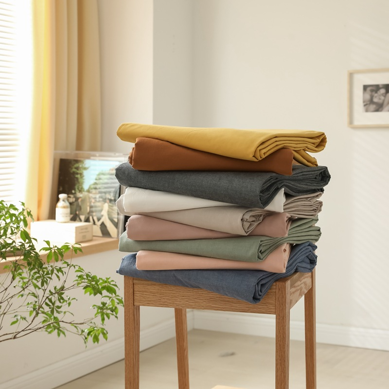 Nantong Home Textiles Pure Cotton Yarn-dyed Washed Cotton Single Product Sheet Duvet Cover Cotton Be