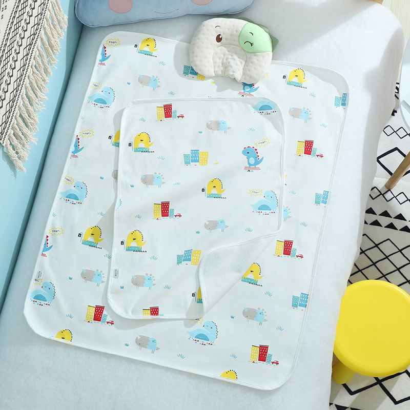 Pure cotton changing pad, baby waterproof baby, increased non-slip changing pad, absorbent aunt's p