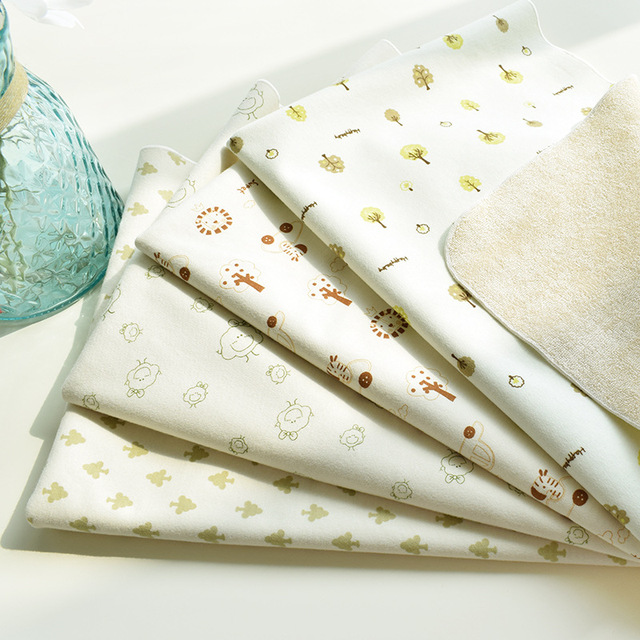 Maternal and baby products Color cotton baby changing mats Washable changing mats Waterproof sheets