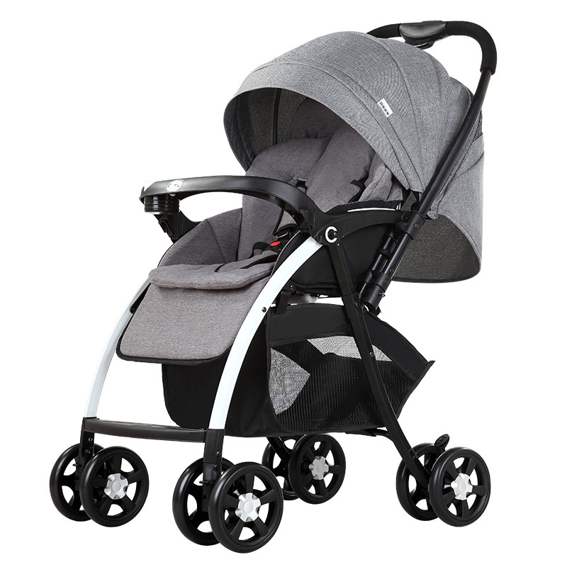 Hebao high landscape baby stroller can sit and recline two-way shock absorber children's folding tr