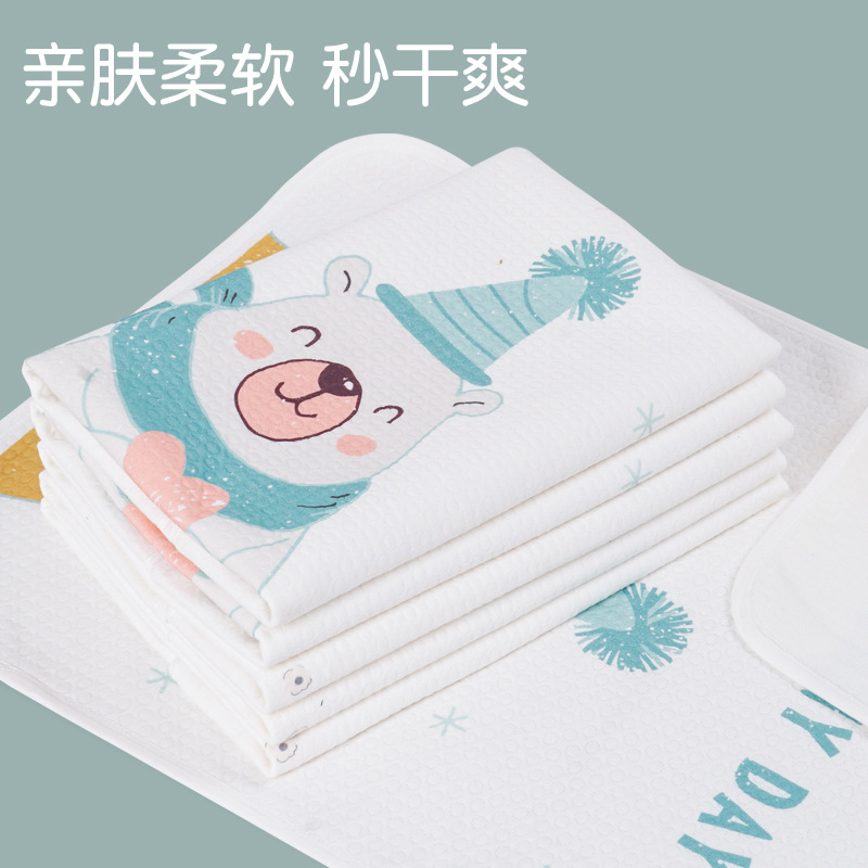 Baby changing pad, waterproof, breathable, washable pure cotton thickened autumn and winter use newb