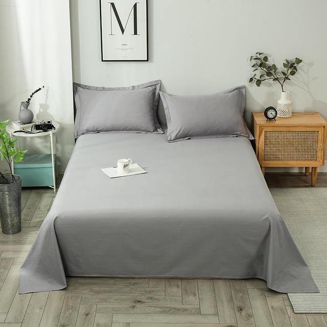 Pure cotton simple pure color single bed pure cotton plain color student dormitory single double bed