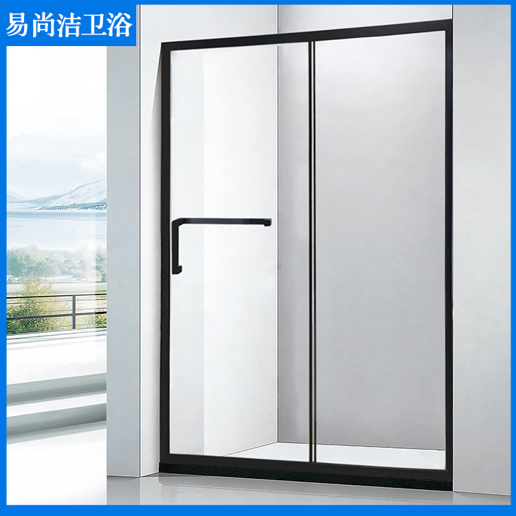 Shower room partition toilet bathroom wet and dry separation stainless steel glass one-shaped integr