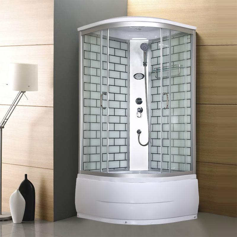 Integral shower room simple glass room single simple free-standing bathtub shower room bathroom dry