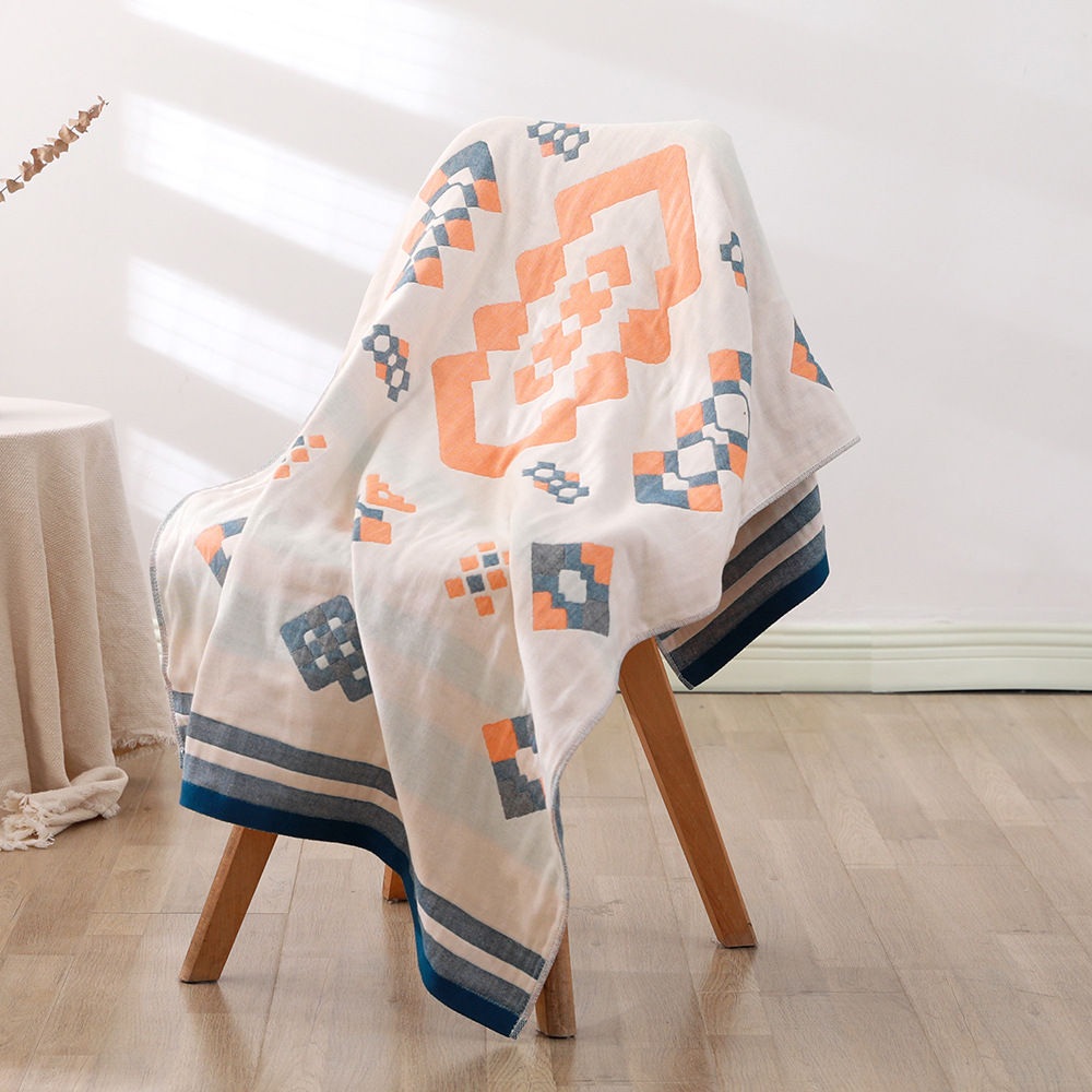 Four-layer gauze cotton bath towels are soft and comfortable Bohemian 70*140 beach towel Indian sun