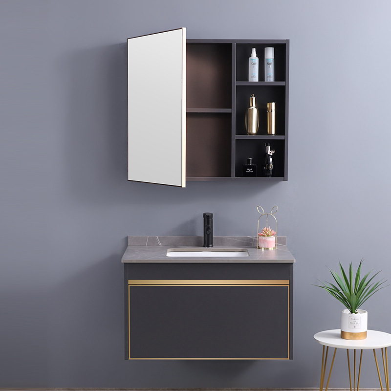 304 stainless steel bathroom cabinet bathroom wall cabinet storage mirror cabinet wall-mounted bathr