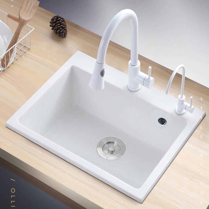 Groton Quartz stone sink single-slot vegetable basin kitchen sink package sink household vegetable b