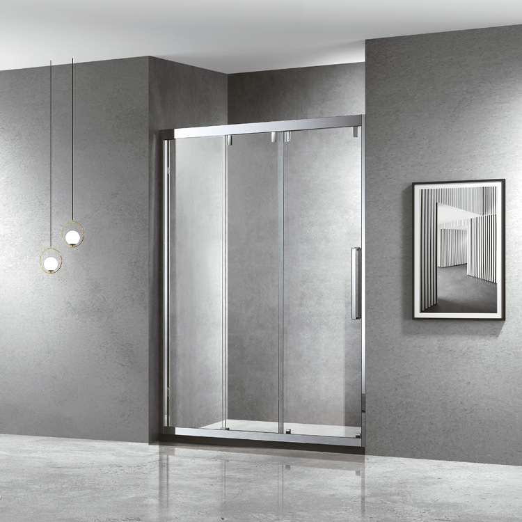 Shower room screen double door direct partition simple bathroom toilet wet and dry separation glass