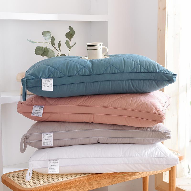 Pure cotton washable feather velvet pillow, cotton neck pillow pillow, hotel single pillow