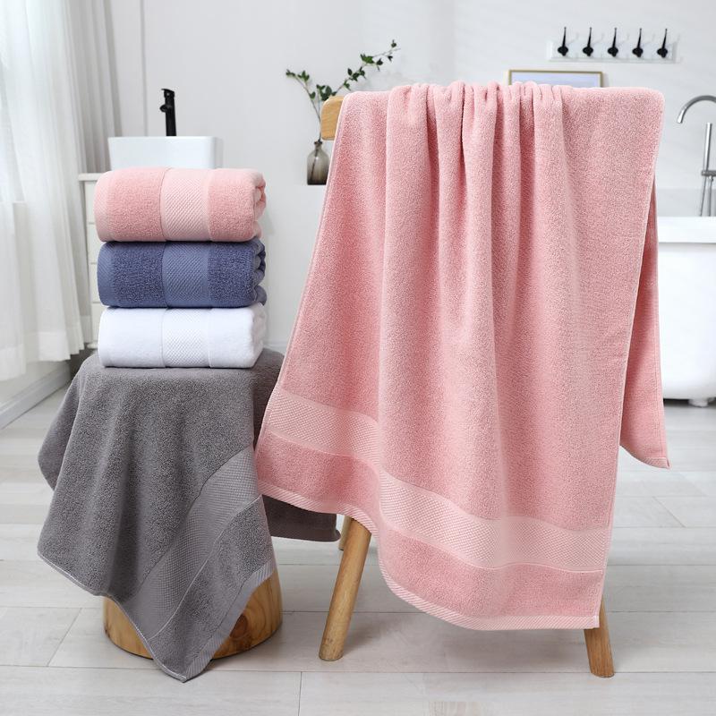 Double-sided cotton bath towel manufacturer wholesale 70*140cm adult beach towel embroidery