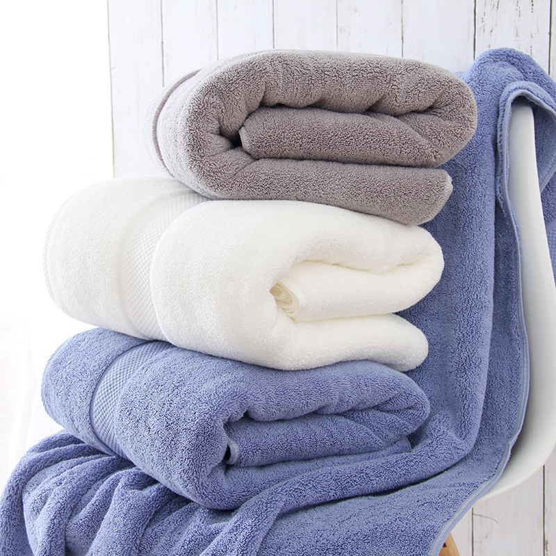 450g bath towel pure cotton home beauty salon hotel white gift men and women thickened bath towel em