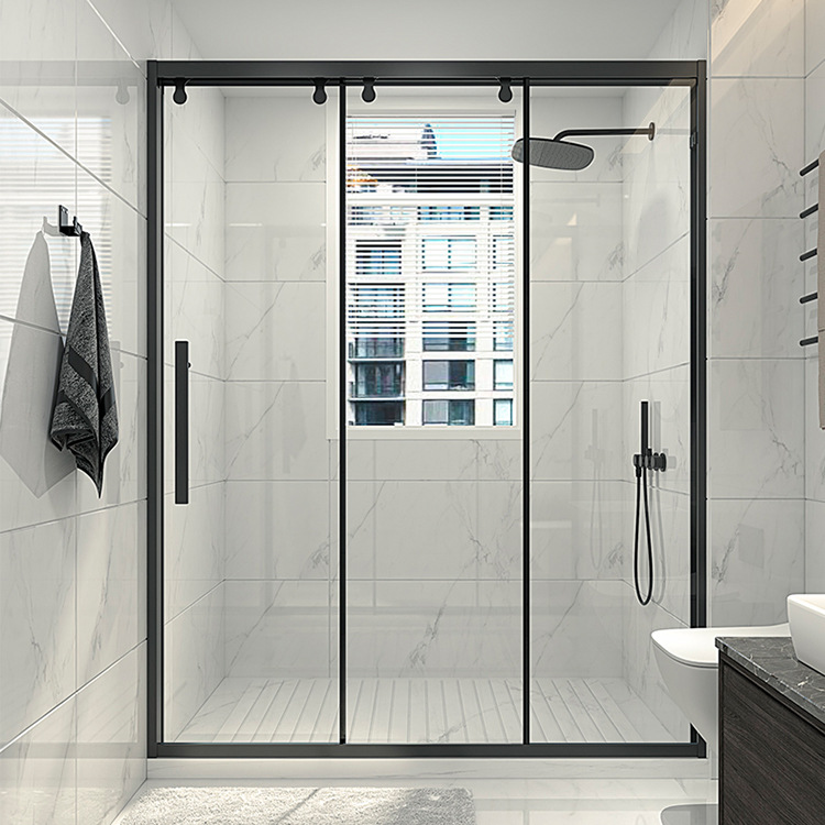 Bathroom in-line linkage, bathroom, dry and wet separation, glass partition, sliding door, shower ro