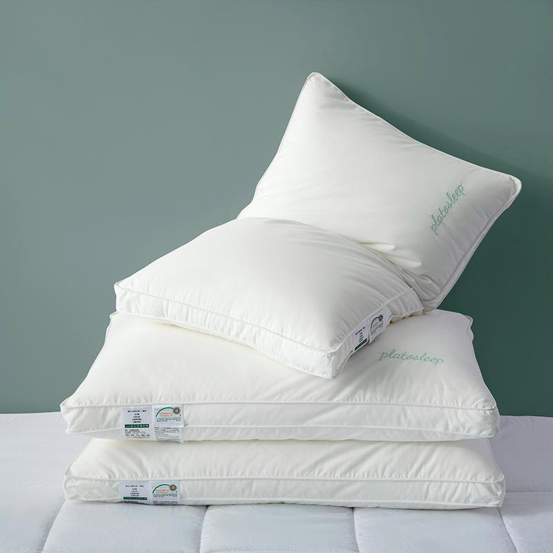 60 A-class maternal and child-grade pillows Plato-star hotel pillow non-fluorescent cotton pillow pi