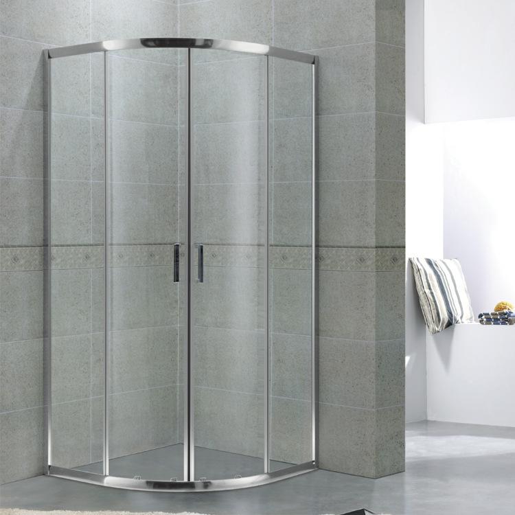 Bathroom aluminum alloy arc fan-shaped shower room integral bathroom glass shower screen Y1660